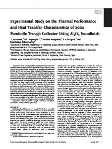 Experimental Study on the Thermal Performance and