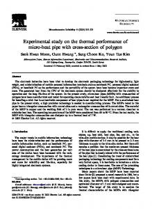 Experimental study on the thermal performance of ... - Semantic Scholar