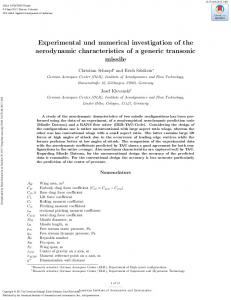 Experimental und numerical investigation of the ...