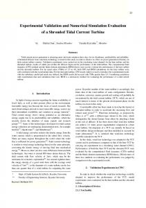 Experimental Validation and Numerical Simulation ... - J-Stage