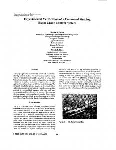 Experimental Verification of a Command Shaping Boom ... - IEEE Xplore