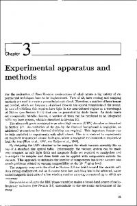 Experimentall apparatus and methods s