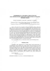 EXPERIMENTALLY AND SIMULATION OF ELECTROMAGNETIC ...