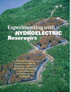 Experimenting with HYDROELECTRIC Reservoirs Experimenting with ...