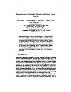 Experiments in Parallel Constraint-Based Local Search
