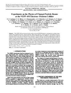 Experiments on the Physics of Charged Particle Beams ... - Springer Link