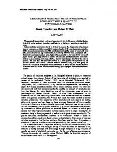 EXPERIMENTS WITH FRESHWATER ... - Semantic Scholar