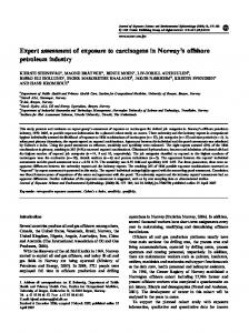 Expert assessment of exposure to carcinogens in Norway's ... - Nature