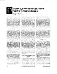 Expert systems for power system control in Western ... - IEEE Xplore