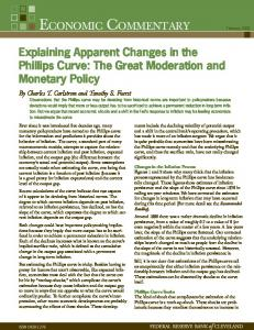 Explaining Apparent Changes in the Phillips Curve: The Great ... - Core
