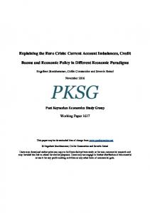 Explaining the Euro Crisis - Post-Keynesian Economics Society