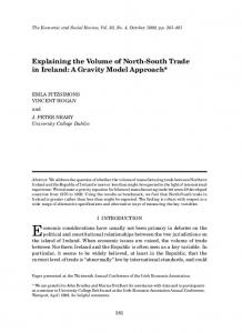 Explaining the Volume of North-South Trade in Ireland: A ... - TARA