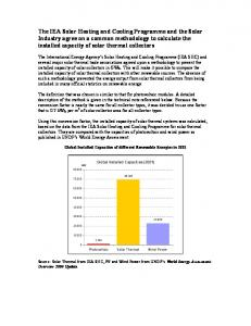Explanation Note - IEA Solar Heating and Cooling Programme