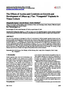 Explants in Tissue Culture - Scientific Research Publishing