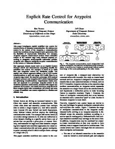 Explicit Rate Control for Anypoint Communication - UCSD CSE