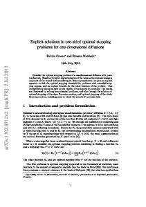 Explicit solutions in one-sided optimal stopping problems for one ...