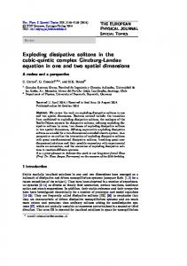 Exploding dissipative solitons in the cubic-quintic ... - Springer Link