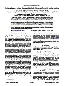 Exploding dissipative solitons: The analog of the ... - APS Link Manager