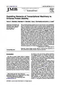 Exploiting Elements of Transcriptional Machinery to Enhance ...