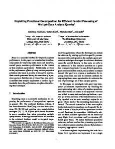 Exploiting Functional Decomposition for Efficient Parallel Processing ...