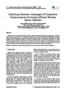 Exploiting Geometric Advantages of Cooperative Communications for ...