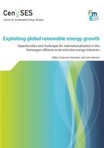Exploiting global renewable energy growth - NTNU