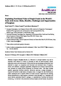 Exploiting Nutritional Value of Staple Foods in the World's ... - MDPI