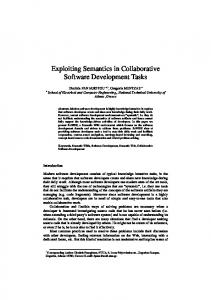 Exploiting Semantics in Collaborative Software Development Tasks