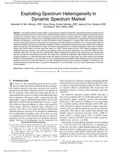 Exploiting Spectrum Heterogeneity in Dynamic ... - IEEE Xplore