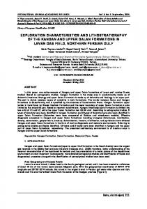 exploration characteristics and lithostratigraphy of the ...