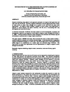 EXPLORATION OF DATA REQUIREMENTS FOR ... - USQ ePrints