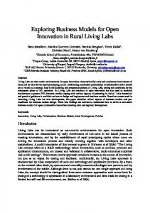 Exploring Business Models for Open Innovation in Rural Living Labs