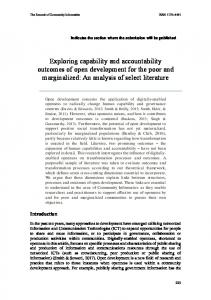 Exploring capability and accountability outcomes of ...