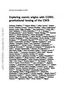 Exploring cosmic origins with CORE: gravitational lensing of ... - arXiv