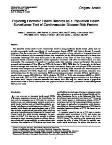 Exploring Electronic Health Records as a Population