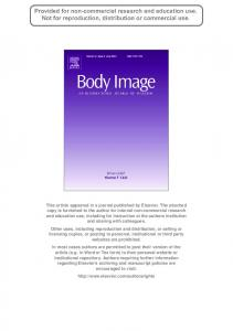 Exploring Gender Differences in Body Image, Eating Pathology, and