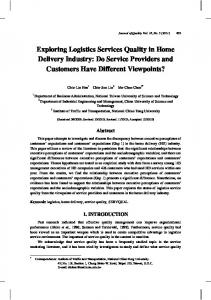 Exploring Logistics Services Quality in Home Delivery ...