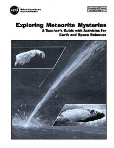 Exploring Meteorite Mysteries pdf - NASA