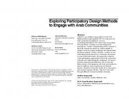 Exploring Participatory Design Methods to Engage with Arab ...