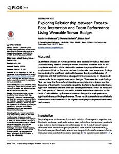 Exploring Relationship between Face-to- Face