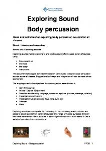 Exploring sound body percussion.pdf - PDST