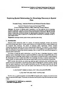 Exploring Spatial Relationships for Knowledge Discovery in Spatial Data