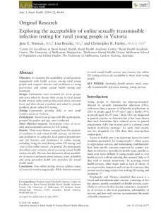Exploring the acceptability of online sexually ... - Wiley Online Library