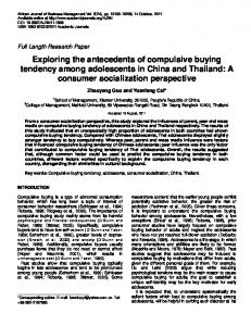 Exploring the antecedents of compulsive buying ... - Academic Journals