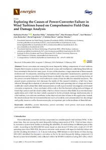 Exploring the Causes of Power-Converter Failure in Wind ... - MDPI