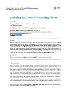 Exploring the Causes of Recruiting Failure - Scientific Research ...