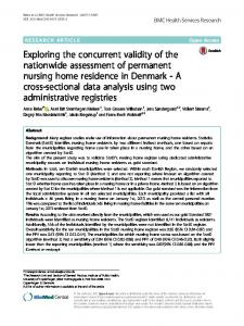Exploring the concurrent validity of the nationwide assessment of ...