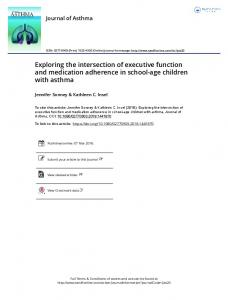 Exploring the intersection of executive function and