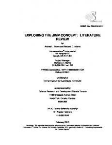 exploring the jimp concept: literature review - Defence Research Reports