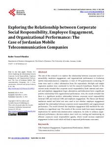 Exploring the Relationship between Corporate Social Responsibility ...